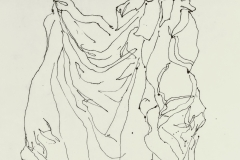 Drapery Contour Pen and Ink