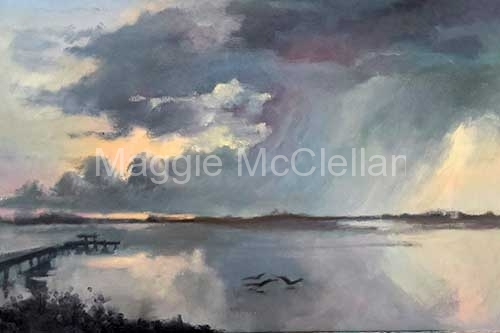 Lemon Bay Storm  - Private Collection
