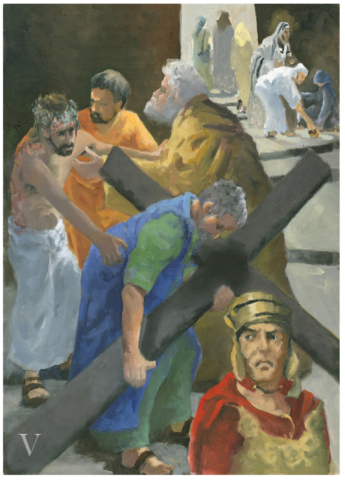 Simon is commanded to take up the cross